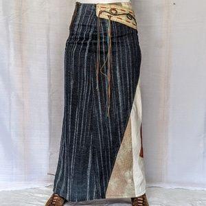 OHDD  light weight artistic maxi skirt